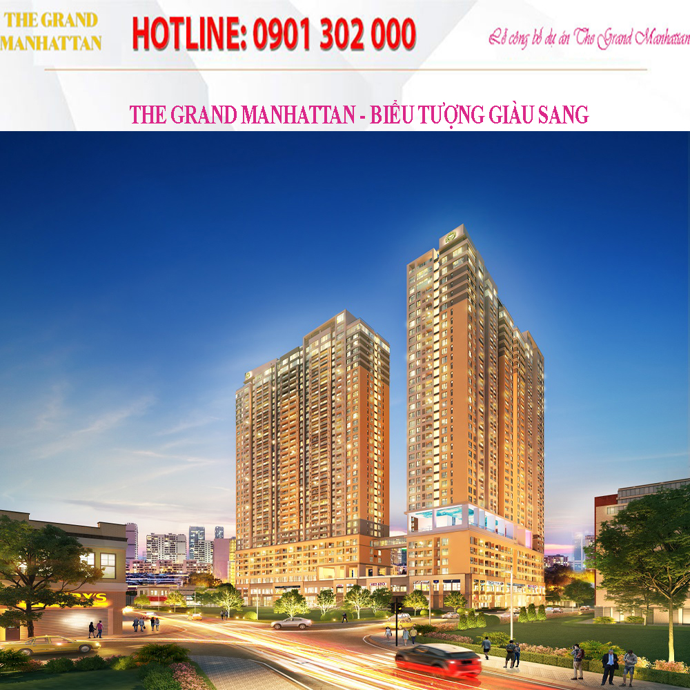 Căn hộ  The Grand Manhattan, The Grand Manhattan, Dự án The Grand Manhattan, The Grand Manhattan Quận 1, Căn hộ  The Grand Manhattan Quận 1
