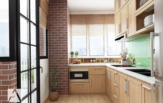 Đẹp ngất ngây mẫu phòng bếp chung cư cực tiện nghi cho gia đình trẻ
